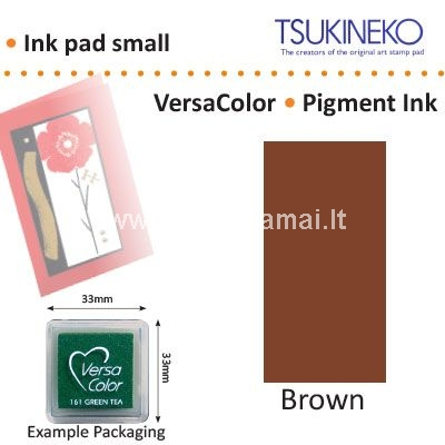Ink pad Versa Colot 3x3cm, brown