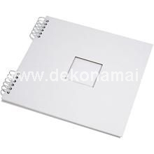 size 30,5x30,5 cm, 250 g  Spiral bound heavy photo album/scrapbook - cover with square cut-out design - contains 20 sheets