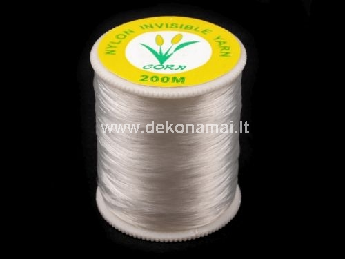 This high quality monofilament sewing threads are design for invisible seam in economical 200m package. It&acute;s suitable to sewing on loom or to making sewn jewells.<br />Diameter of thread 0,14 - 0,15 mm.