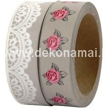 W: 15 mm  Self-adhesive paper tape with matt surface
