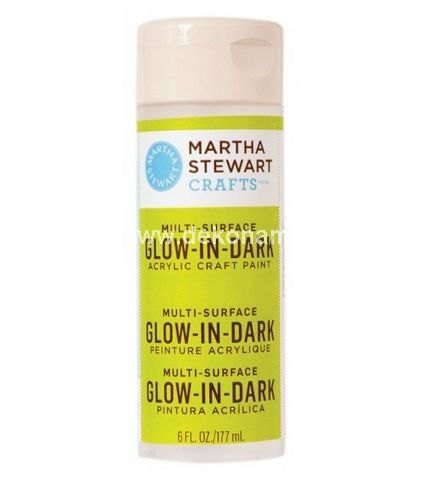 Glow-in-the-dark craft paint by Martha Stewart Crafts<br />Recharge glow by exposing to light<br />Designed to work on all surfaces from glass to wooden