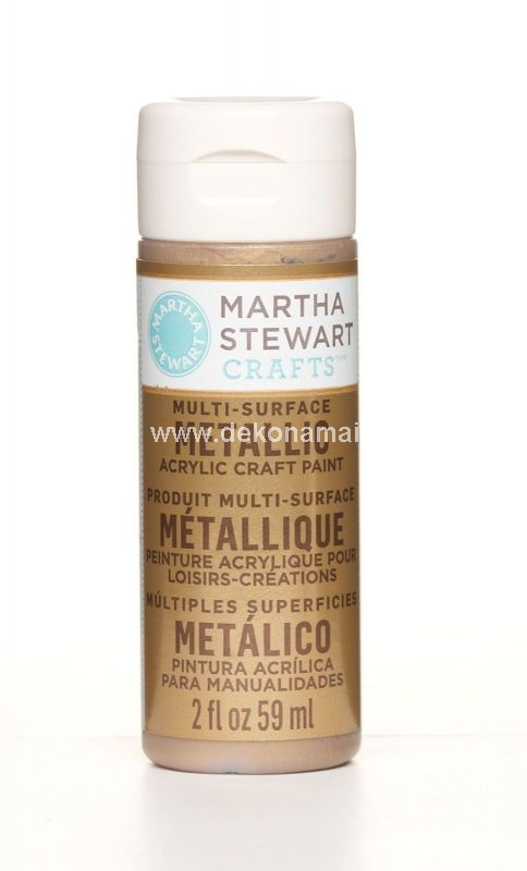PLAID-Martha Stewart Crafts Metallic Craft Paint<p>This high-performance patented premium acrylic paint is specially formulated for use on all surfaces. Its highly pigmented color provides superior coverage perfect for all craft and hobby painting techniques including brush painting detailing sponging stenciling stamping and printing.</p><p>Metallic paints enliven projects with vivid shine.</p><p>This paint is UV and weather-resistant for indoor and outdoor use.</p><p>Self-priming for use on porous and non-porous surfaces.</p><p>Dishwasher safe on glass.</p><p>Non-toxic.</p><p>Water-based.</p>