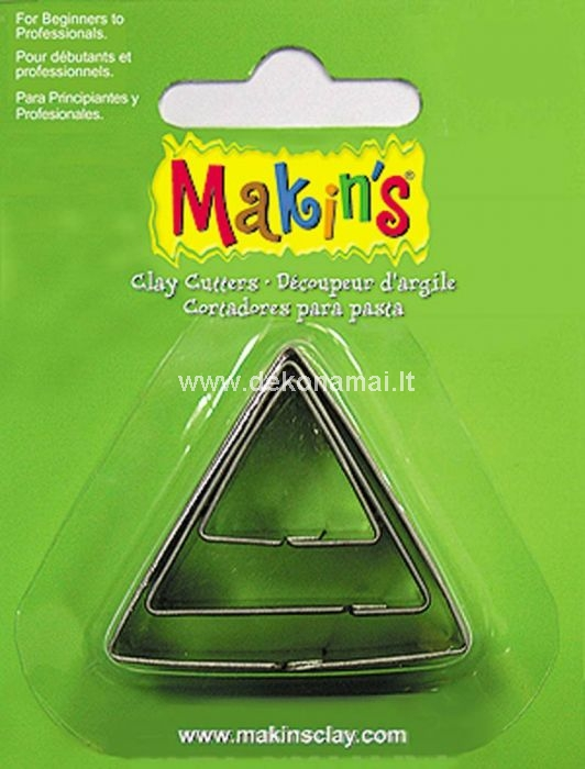 Makin's Clay has a wide range cutters which are suitable for both beginners and professionals! With these (food safe) cutters you can quickly and easily create a beautiful result.  Biggest size: 40x40mm