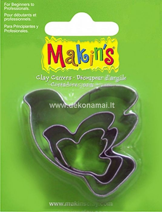 Makin's Clay has a wide range cutters which are suitable for both beginners and professionals! With these (food safe) cutters you can quickly and easily create a beautiful result. The biggest size: 45x40mm