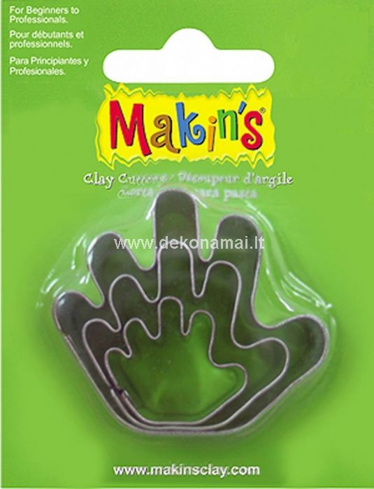 Makin's Clay has a wide range cutters which are suitable for both beginners and professionals! With these (food safe) cutters you can quickly and easily create a beautiful result. The biggest size: 40x50mm