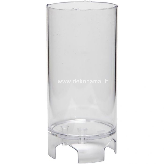Transparent candle mould made from durable plastic - stays steady during the candle making process and is reusable Heat-resistant up to 120C