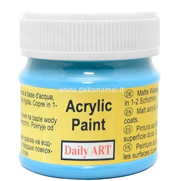 Matt all-purpose quality thick acrylic paint used for decorative painting. It is water-based, non-toxic and has a matt finish. Paint can be diluted with water, mixed with mediums to create special effects or can be varnished for additional protection. This paint can be used on any hard surface for interior and exterior decoration.