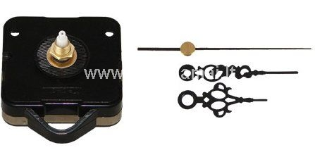 Clock hands size: 4 cm. 5.5 cm. ir 7.5 cm. <br />Mechanism size: 6,5 cm.x5,5 cm. <br />Without battery.