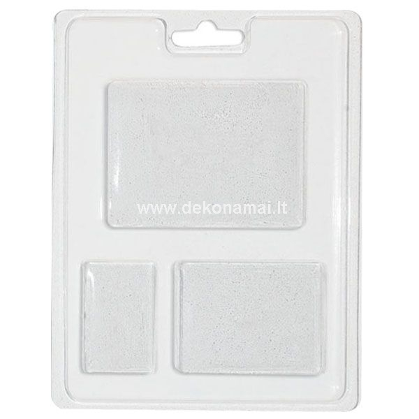 Plastic mold for cold pouring, size 13x18cm. Ideal for Soap, Ceramic Powder, White Resin and for all products to be molded by pressure or to be cold-cast: do not use with hot wax as the melting point of the paraffin could melt the mold.