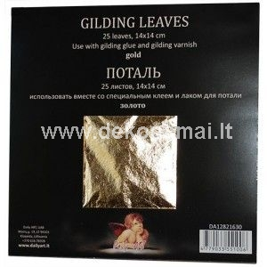 Gilding leafs and flakes are used to create imitation of precious metal.
