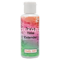 Daily ART Drying Time Extender is a water-based medium that extends the drying and blending of a water based acrylic paint. Helps make blending and stroke work easier.As acrylic paint dries quickly artists and decorators often wish to have longer working time to create complex effects. Add 5 to 30% of Extender to paint, depending on how much more time you need to work on your project. Adding 30% will prolong drying time up to 4 hours depending on the thickness of the layer.