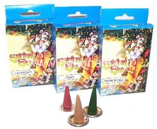 Cone incense, 15pcs, rose